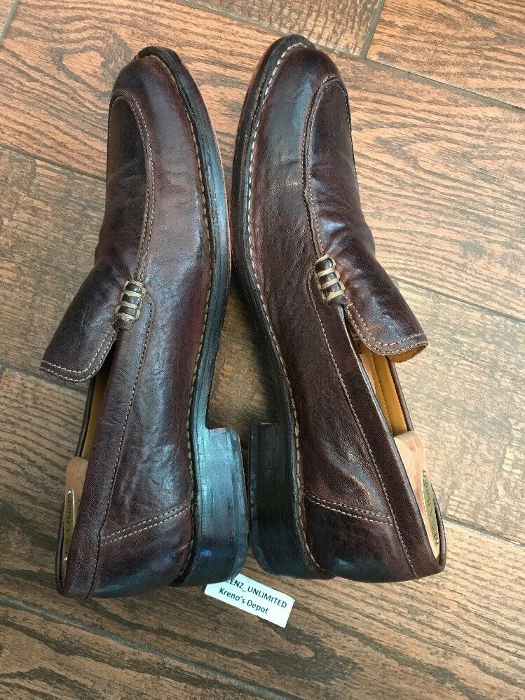 198 COLE HAAN DRYDEN VENETIAN BROWN LEATHER Slip On On On Apron Toe Loafer Schuhes 12 bedb4c