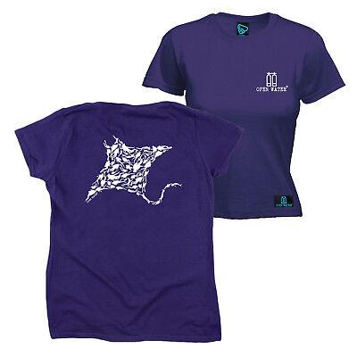 Aktiv Fb Scuba Diving Tee - Manta Ray - Womens Fitted Cotton T-shirt Top T Shirt