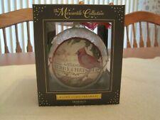 NIB Cardinal Merry Christmas Blown Glass Ornament Demdaco 2020170337