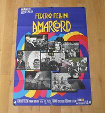 AMARCORD manifesto poster affiche Federico Fellini Ciccio Ingrassia Anni 30 1973