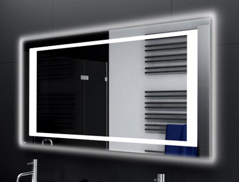 Badspiegel mit LED Beleuchtung Badezimmerspiegel Bad Spiegel Wandspiegel M144