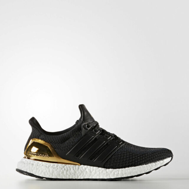65ff214ee286d adidas Ultra Boost Gold Medal Olympic Metallic Black Ltd Size 12 ...