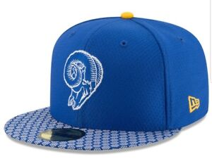 08575978e9c Los Angeles Rams New Era 59FIFTY Sideline FITTED CAP Honeycomb SZ 7 ...