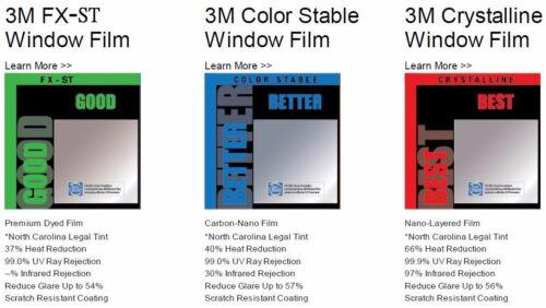 "Genuine 3M Color Stable 5/% VLT Automotive Window Tint Film Roll 30/"" x 240/"" CS5"