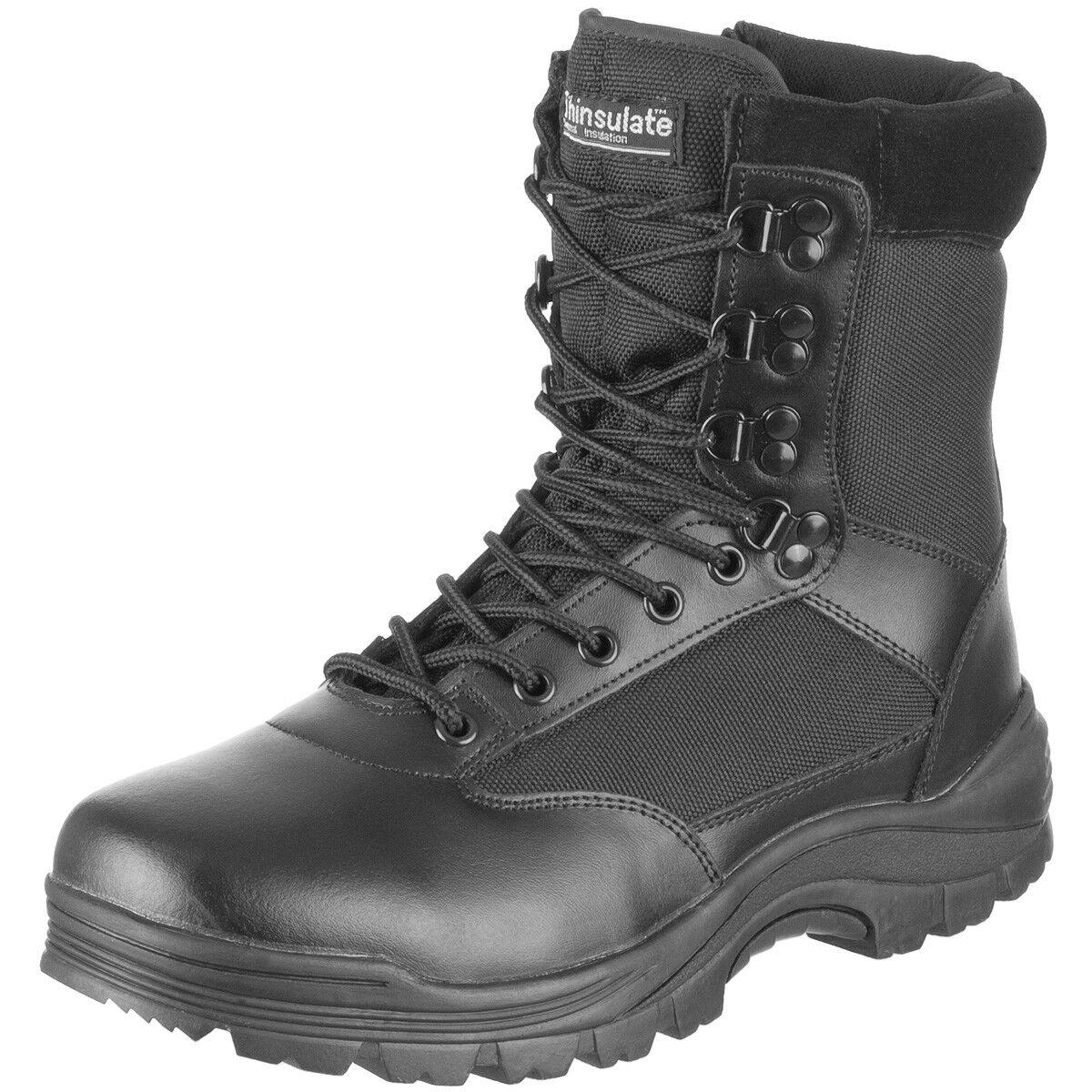 Botas De Combate Hombres Táctico Side Zip Seguridad Policía Ejército Hombres Combate Zapatos Neg 6763d2