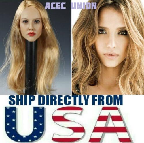 SELLER KUMIK Jessica Alba 1//6 Head Sculpt Blonde For Hot Toys Female Body U.S