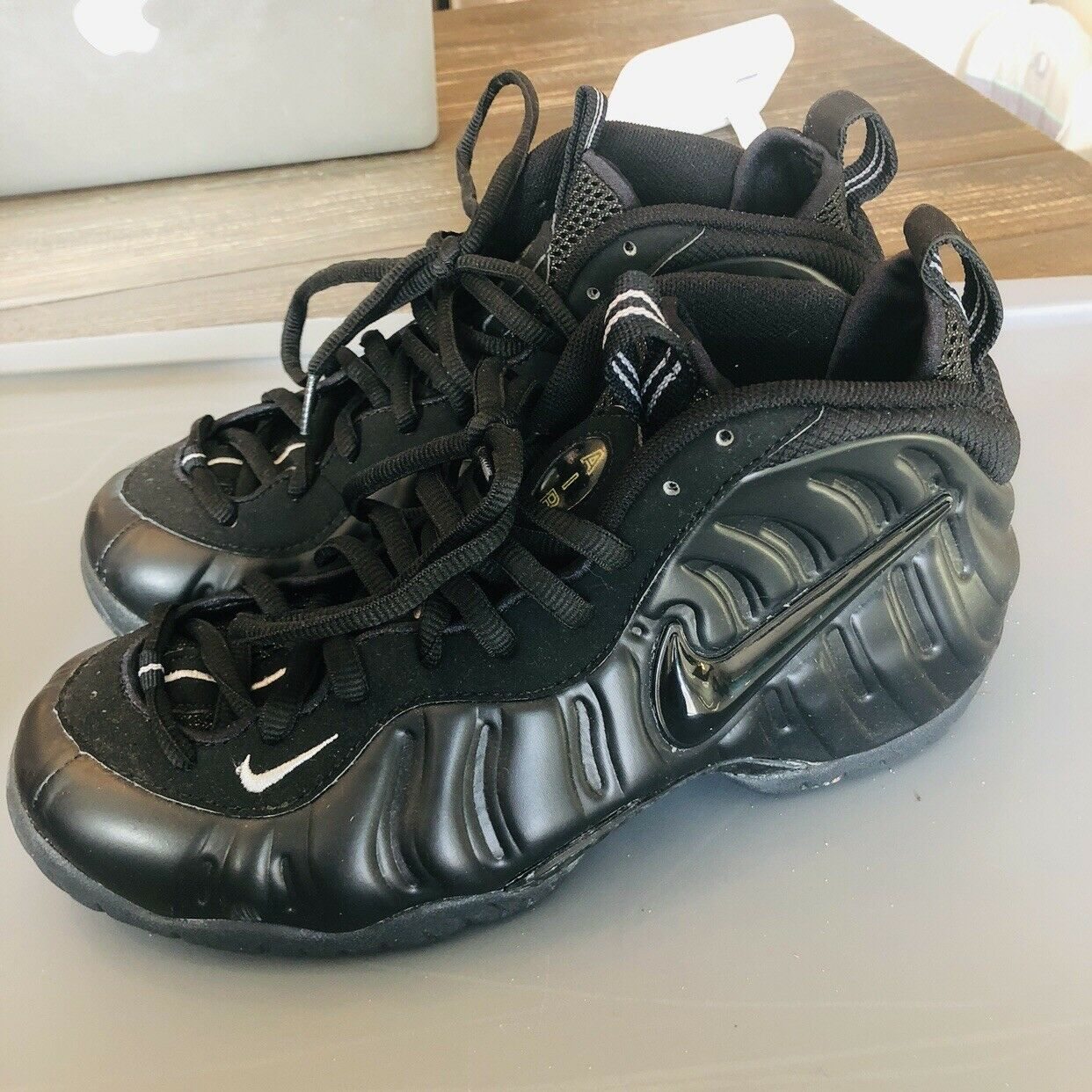 Nike Air Foamposite Pro Black Medium Grey 2000 Mens Size 8.5 630304-002