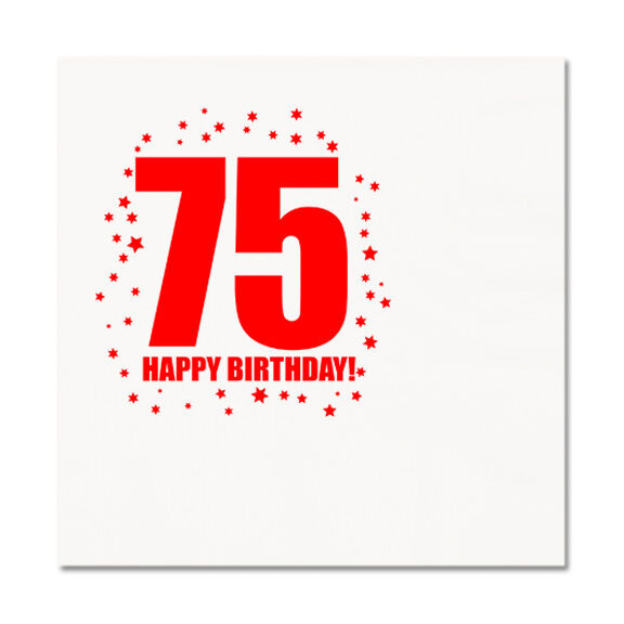 Happy 75th Birthday Age 75 Party Supplies LUNCHEON LUNCH DINNER NAPKINS