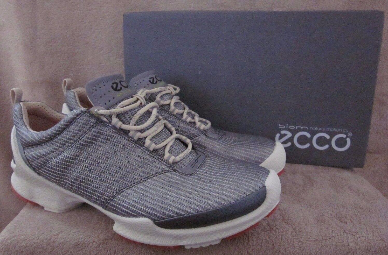 Ecco Biom Train 1.1 1.1 1.1 de encaje Plata Y blancoo Malla Zapatos EE. UU. 10 - 10.5 M EUR 41 Nuevo Con Caja  orden ahora disfrutar de gran descuento