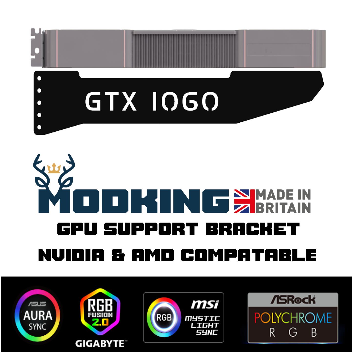 GTX 1060 - LED RGB GPU Anti-Sagging Support Bracket Brace NVIDIA AMD GTX RTX