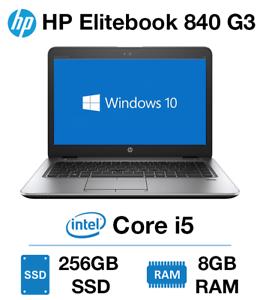 PC HP EliteBook 840 G3 i5 14 HD  8 Go 256Go SSD AZERTY