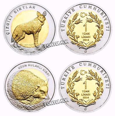 TURKEY 2015 DESERT VARAN 1 LIRA COMMEMORATIVE BIMETAL UNC COIN