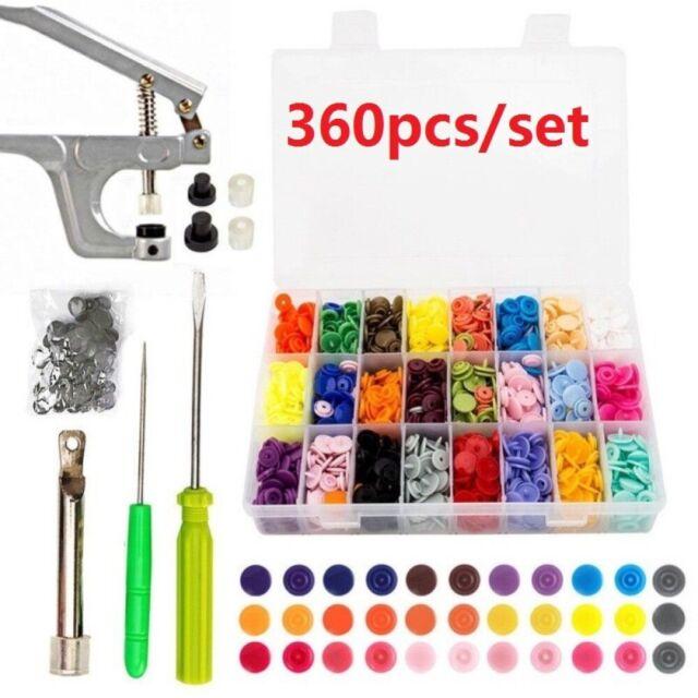 Press Studs Button Fastener Snap Pliers T5 T3 T8 Plastic Resin Cloth Diaper Kam