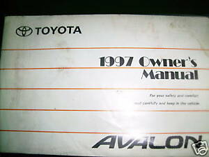 1997-Toyota-Avalon-Owners-Manual