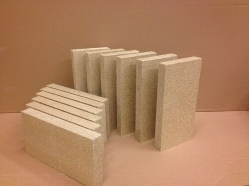 Pack of 25 Vermiculit Fire Bricks 230mm x 114mm x 25mm thick High Density
