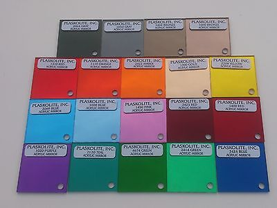 COLOURED ACRYLIC PLASKOLITE MIRROR SHEET 3MM THICK 19 DIFFERENT COLOURS A3/A4