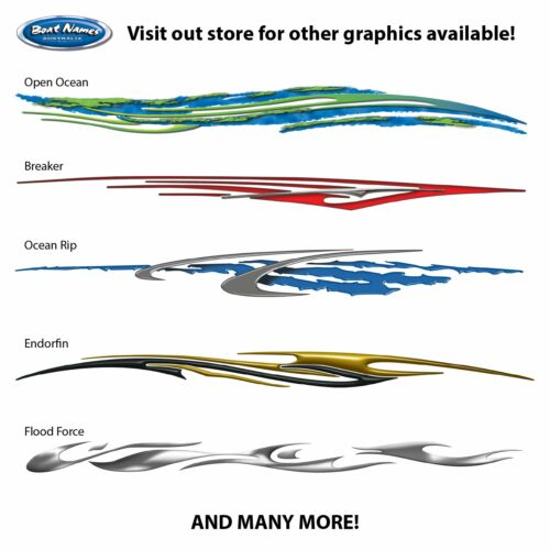 Boat Graphics Kit Ocean Rip