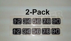 2-Pack Ford KEYLESS ENTRY 2008 ford Edge Door Keypad Sticker DECALS