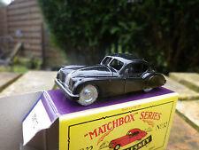 MATCHBOX LESNEY MOKO 32 JAGUAR XK 140 noir, neuf en boite version 1992