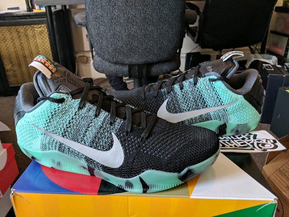 Nike Kobe XI 11 Elite Low AS ASG All Star Game Green Glow Black Men's 822521-305 Cheap and beautiful fashion