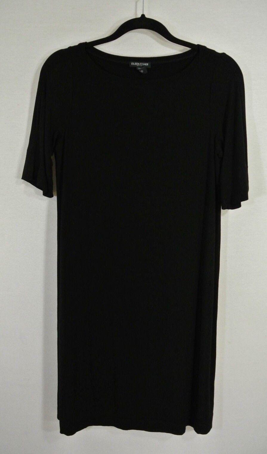 NEW Eileen Fisher Jersey Dress in schwarz - Größe PM