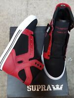 Supra Skytop Black Red White Kids Shoes Size Us 5 In Box