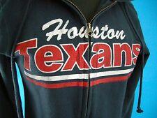 NFL Houston Texans Junk Food Blue Hoodie Zipper Hooded Sweatshirt Women's Small