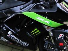 Für Kawasaki ZX-6R Echt Carbon Seiten Verkleidung 07-08  NEU