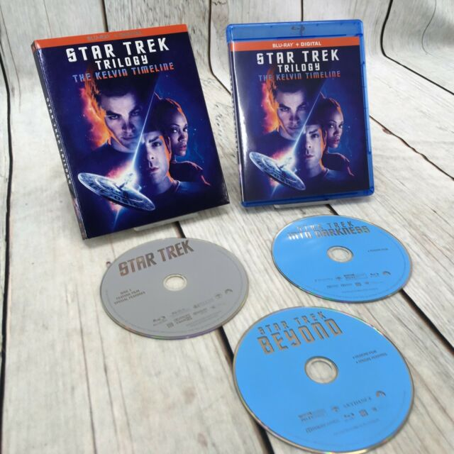 Star Trek Trilogy Blu Ray 3 Film Collection Kelvin Timeline Beyond Into Darkness For Sale Online Ebay