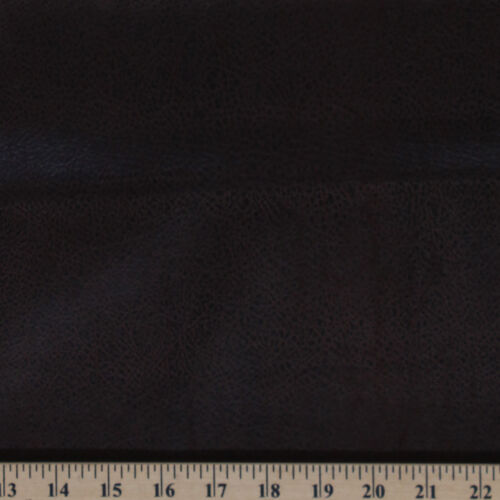 Faux Leather Look Chocolate Brown Synthetic Fabric Print by the Yard D367.14