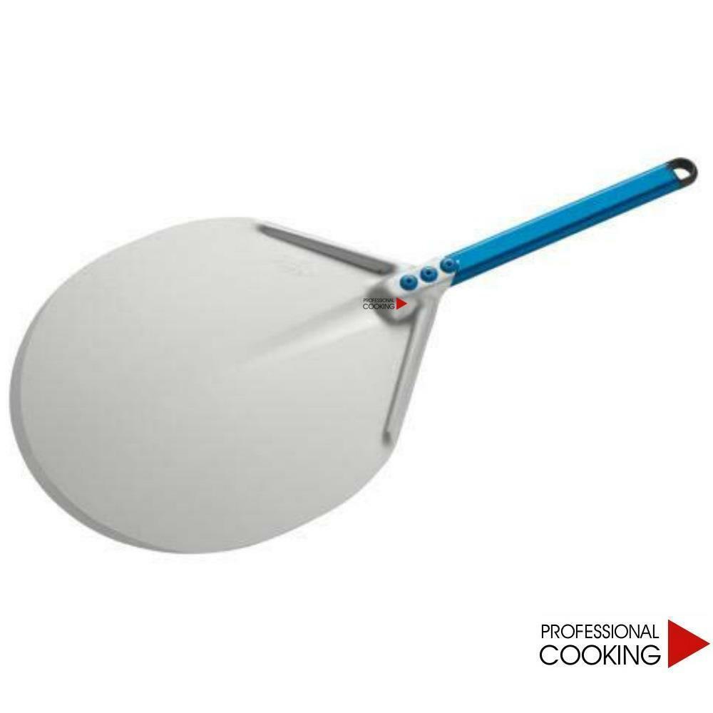 Gi Metal Pala pizza in alluminio anodizzato manico corto mod.Azzurra
