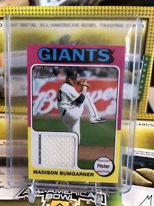 2011 Topps Lineage Mini 1975 Design Relics #75R-MB Madison Bumgarner Card