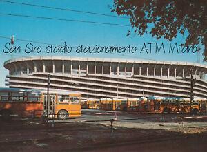 Cartolina-non-viaggiata-San-Siro-stadio-stazionamento-ATM-Milano-1980-039-s