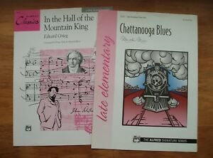 2 Feuilles Dans Le Hall Of Mountain King Par Grieg + Chattanooga Blues (alfred)-afficher Le Titre D'origine