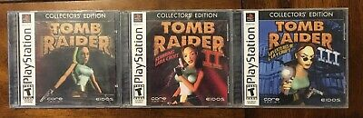 Tomb Raider Collectors Edition 1 2 3 Sony Playstation 1 Ps1
