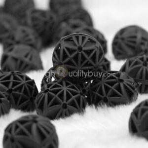 50-Bio-Balls-Kugeln-Filtermaterial-fuer-alle-Aquarien-und-Teich-Filter-Scwarz