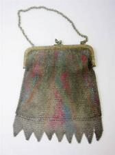 Antique Germany Dresden Baby Ring Mesh Flapper Bag Purse Abstract Muted,Vandyke