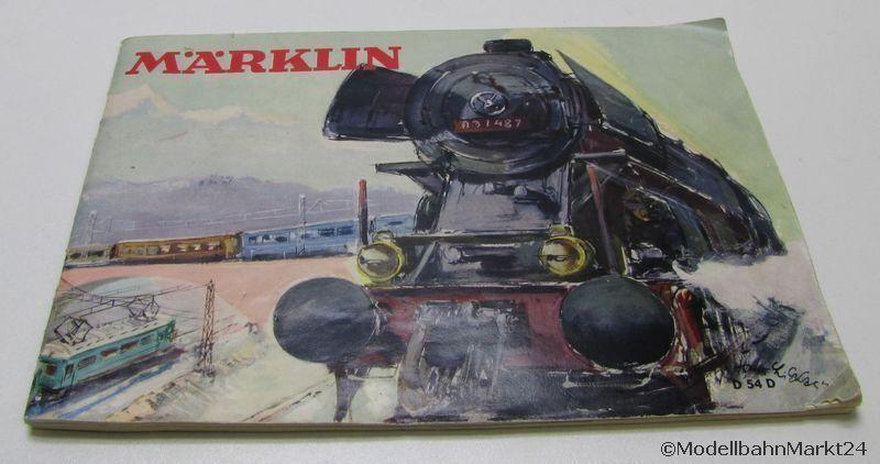 Märklin catálogo d 54 1954 pista h0