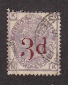 Great Britain stamp #84, used, plate 21, 1883, Victoria,  SCV $150.00