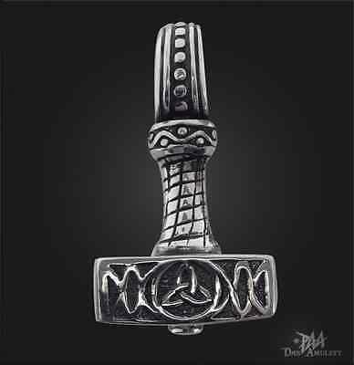 Nr 292 Thorshammer Anhänger 925 Silber Thors Thor Hammer Thorhammer Odinskopf
