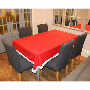 Red White Santa Christmas Table Cloth Tablecloth Decoration Xmas Dinner Party Ebay
