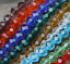 Lots 50pcs 6mm Earth Crystal glass faceted Rondelle beads crystal Earth beads
