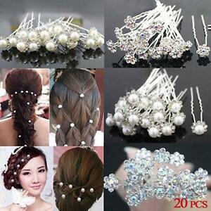 20pcs-Fashion-Wedding-Bridal-Pearl-Flower-Crystal-Hair-Pins-Clips-Bridesmaid-Z2