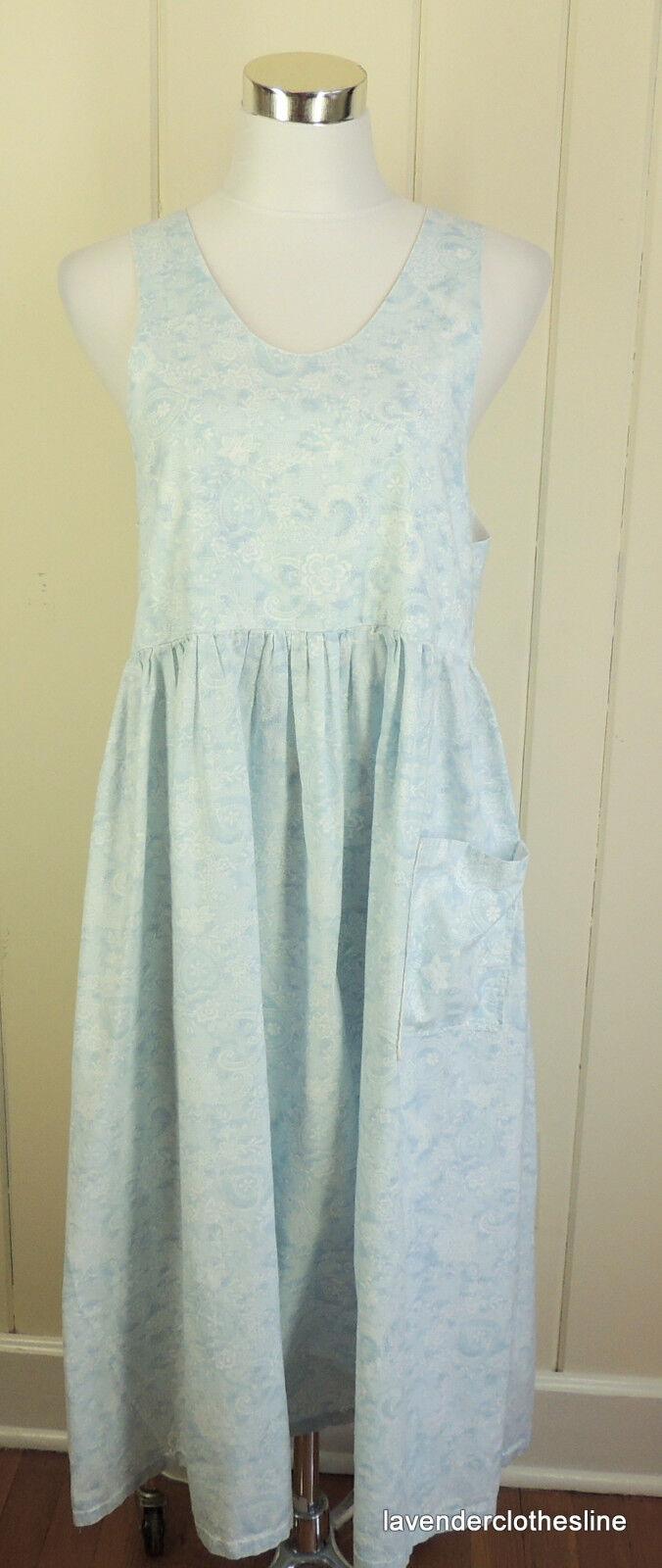 Handmade Homemade bluee Country Farm Chore Jumper Dress Bust 37   Length 46
