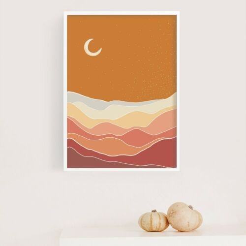 Great Home Decor Moon Phase  Abstract Minimalist Wall Art Print