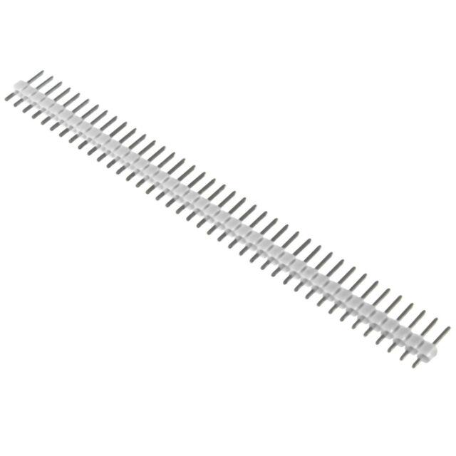 10 PCS 40 Pin Strip Breakable Pin Header Tin PCB Panel IC Male 2.54mm White