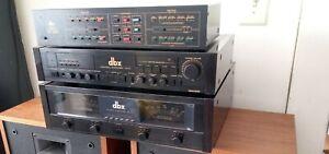 DBX BX-3 STEREO POWER AMPLIFIER + DBX CONTROL AMPLIFIER CX-3 PREAMP. SET