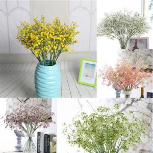 Artificial Fake Baby's Breath Gypsophila Silk Flowers Bouquet Home Wedding bw