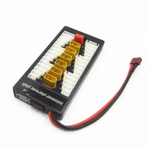 Parallel Charging Board T Plug Lipo 2-6S Multiple XT60 Battery Ladegerät L2KS