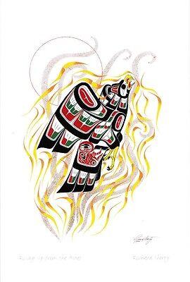 Hummingbirds The Gathering Richard Shorty Art Card Northern Tuchone Yukon Native